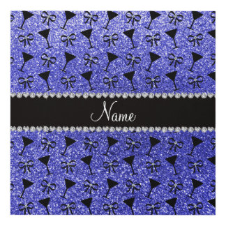 Vidrio de cóctel azul de neón conocido cuadro
