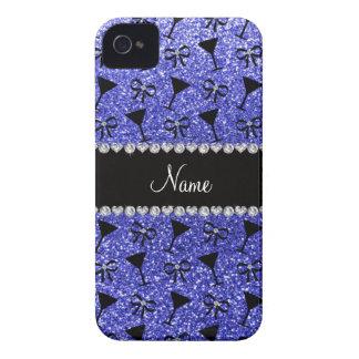 Vidrio de cóctel azul de neón conocido Case-Mate iPhone 4 funda
