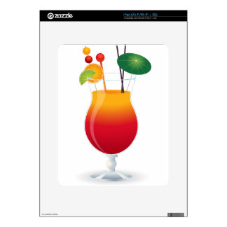 Vidrio de cóctel calcomanía para iPad