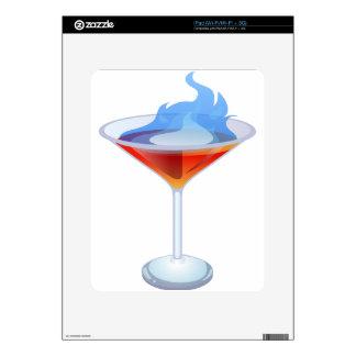 Vidrio de cóctel llameante calcomanías para el iPad
