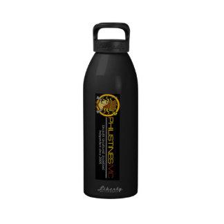 Vidrio de cóctel táctico filisteo botellas de agua reutilizables