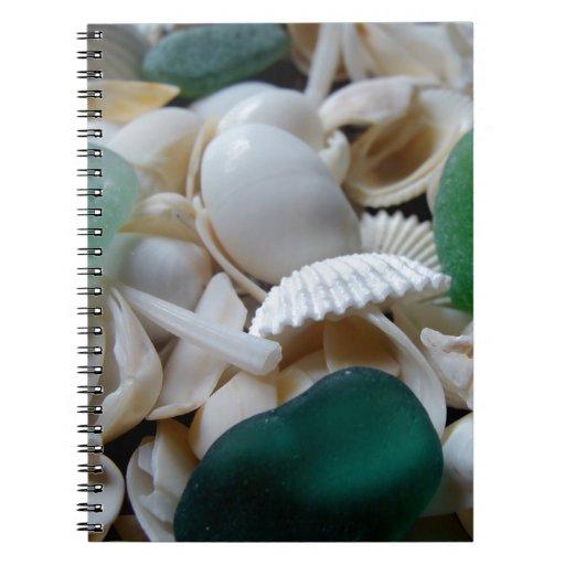Vidrio de color verde oscuro del mar notebook