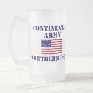 Vidrio de consumición helado ejército continental taza de cristal