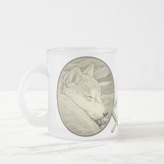 Vidrio de CupShiba Inu del café de la taza de