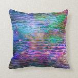 Vidrio de fusión abstracto colorido fresco cojin