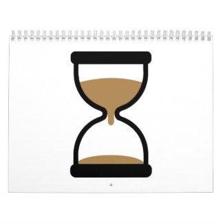 Vidrio de la arena del reloj de arena calendario