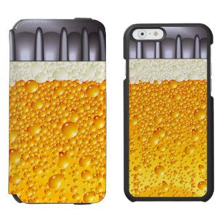 Vidrio de la botella de cerveza funda billetera para iPhone 6 watson