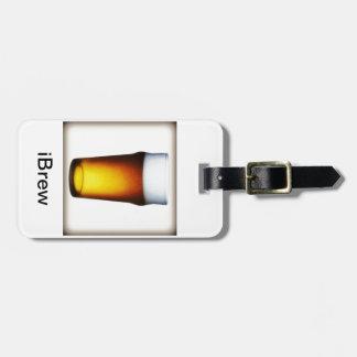 vidrio de la cerveza inglesa del iBrew Etiqueta Para Equipaje