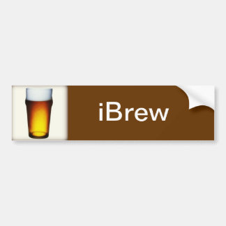 vidrio de la cerveza inglesa del iBrew Pegatina Para Auto