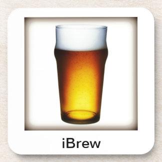 vidrio de la cerveza inglesa del iBrew Posavasos De Bebidas