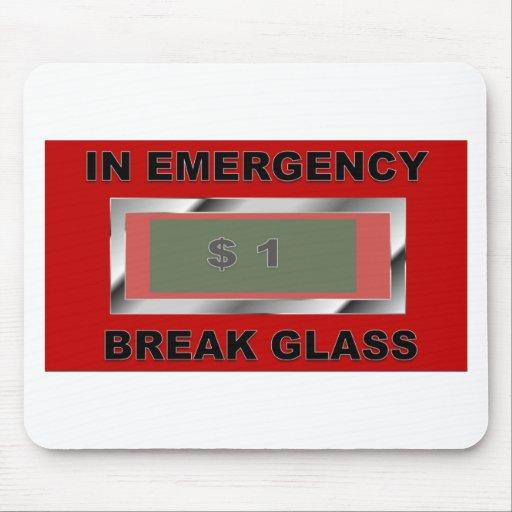 vidrio de la emergencia alfombrilla de raton