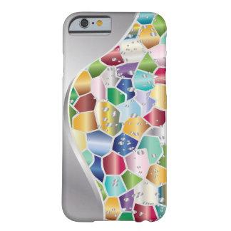 Vidrio de la mancha del mosaico con el borde de funda barely there iPhone 6