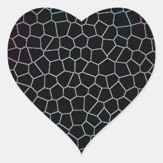 Vidrio de la obsidiana calcomanía de corazón personalizadas