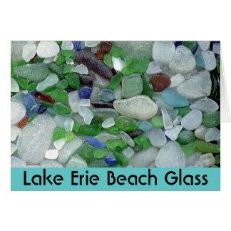 Vidrio de la playa del lago Erie Tarjeta