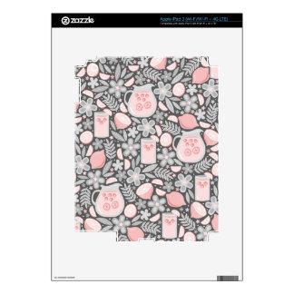 Vidrio de la tarde de limonada rosada iPad 3 pegatina skin