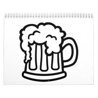 Vidrio de la taza de cerveza calendario