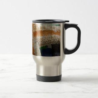 Vidrio de las estrellas de mar y de la playa taza de café