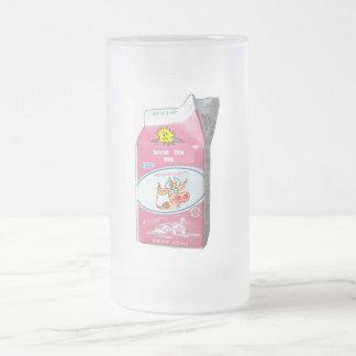 Vidrio de leche asustado de vaca taza de cristal