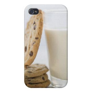 Vidrio de leche y de las galletas, primer iPhone 4 fundas