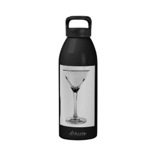 vidrio de martini botella de agua