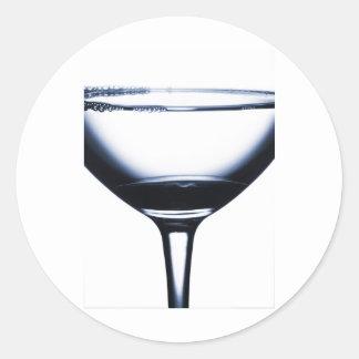 Vidrio de Martini de los cócteles Etiquetas Redondas