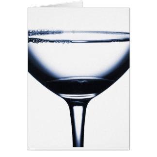 Vidrio de Martini de los cócteles Tarjeta De Felicitación