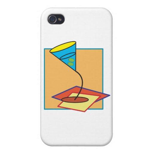 Vidrio de Martini iPhone 4 Fundas