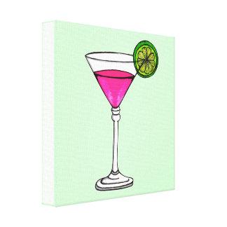 Vidrio de Martini Impresiones En Lienzo Estiradas