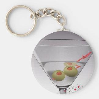 Vidrio de Martini Llaveros Personalizados