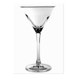 vidrio de martini tarjetas de visita grandes