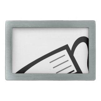 Vidrio de medición hebillas cinturón rectangulares