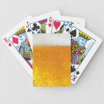 Vidrio de naipes de la cerveza #1 baraja cartas de poker