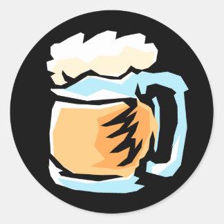 Vidrio de pegatinas de la cerveza pegatina redonda