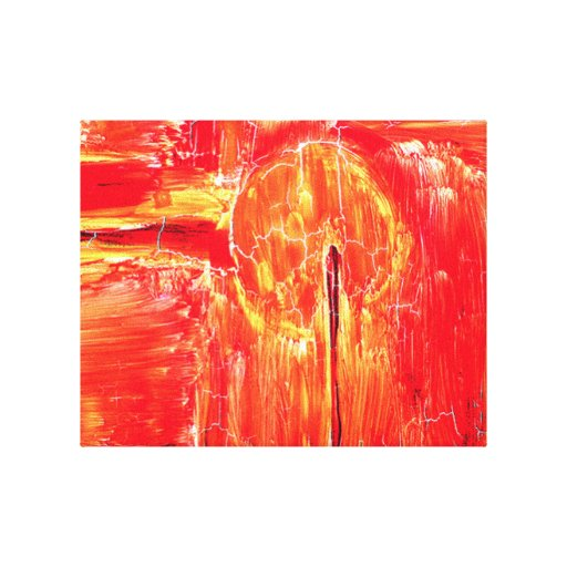 Vidrio de Sun Impresión En Lienzo Estirada