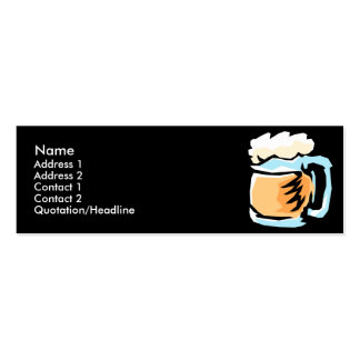 Vidrio de tarjetas del perfil de la cerveza tarjetas de visita mini