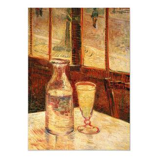 """Vidrio de Van Gogh el 'del ajenjo y de un Carafe Invitación 5"""" X 7"""""""