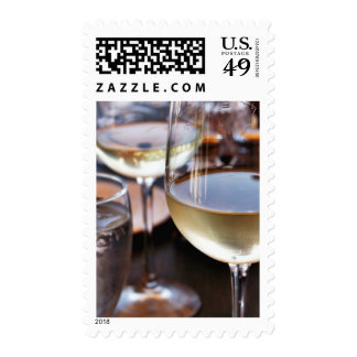 Vidrio de vino blanco franqueo