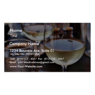 Vidrio de vino blanco plantillas de tarjeta de negocio