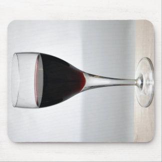 Vidrio de vino rojo alfombrillas de ratones