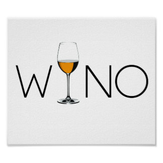 Vidrio del amante del vino del borracho póster