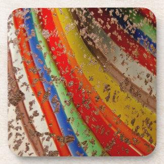 Vidrio del arte del arco iris posavasos