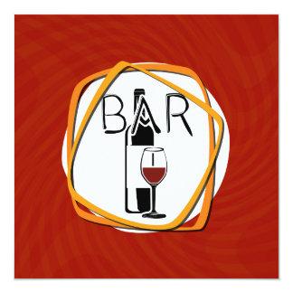 """Vidrio del ejemplo de vino en una barra invitación 5.25"""" x 5.25"""""""