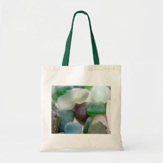 Vidrio del mar azul y verde bolsa