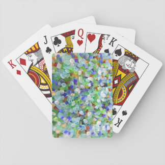 Vidrio del mar barajas de cartas
