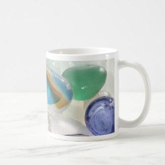 Vidrio del mar del arco iris tazas de café