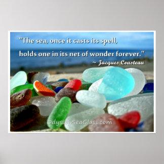 Vidrio del mar - los moldes del mar es encanto posters