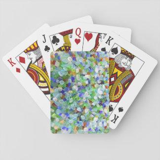 Vidrio del mar cartas de juego