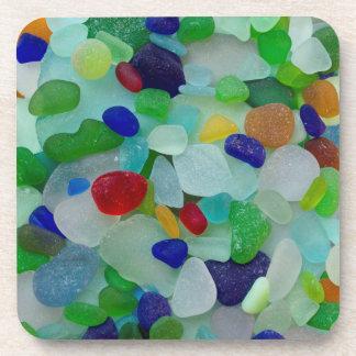 Vidrio del mar, prácticos de costa de cristal de posavasos de bebidas