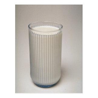 Vidrio delicioso de leche postal