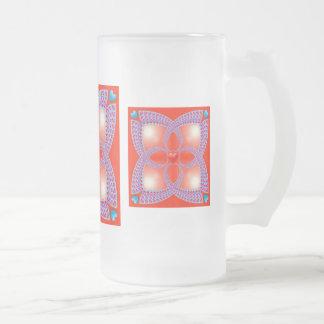 Vidrio esmerilado céltico rojo del modelo del taza de cristal